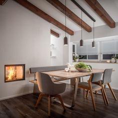 Küche & Essbereich Küchen Design, Dining Table, Interior, Furniture, Home Decor, Kitchen Contemporary, Home Kitchens, Living Area, Dining Rooms