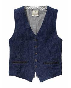 Indigo Tailored Vest > Mens Clothing > Blazers at Scotch & Soda - Scotch & Soda Online Fashion & Apparel Shop