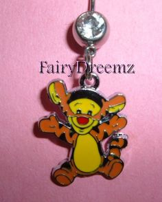 I WANT!!!!!! Baby TIGGER From Winnie the Pooh Belly Navel Ring by FairyDreemz