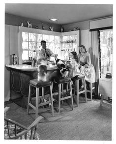 """Arthur Lake and family (194?) Arthur Lake played Dagwood Bumstead in Columbia Pictures' """"Blondie"""" films from 1939 - 1950. ..."""