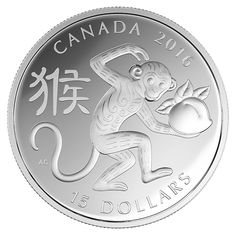 1 oz. Fine Silver Coin – Year of the Monkey (2016)