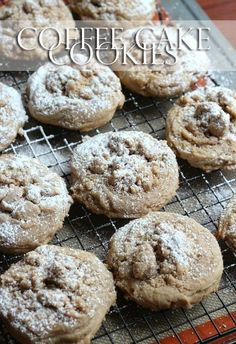 Coffee Cake Cookies - Perfect For breakfast or dessert! They are heavy on the crumb which is my favorite part!!
