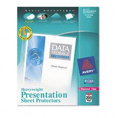 New-Avery 74400 - Top-Load Poly Sheet Protectors, Heavy, Letter, Diamond Clear, 200/Box - AVE74400