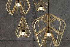 Exo Series lights by Rowan Turnham and Matthew Harding for Rakumba Lighting wall lamp table lamp pendant