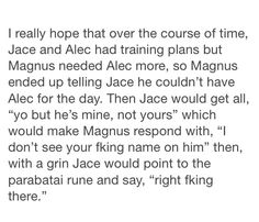 """Magnus would then point to where Alex had the hickey and say """"mine."""""""