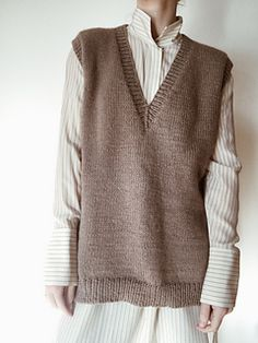 Ravelry: Designs by My Favourite Things Fashion 101, Autumn Fashion, Vest Outfits, Knit Vest, Kawaii Clothes, Mom Style, Winter Outfits, Knitwear, Cashmere