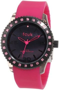 FCUK Women's FC1103PP Sporty Plastic Pink Rubber Crystals Watch FCUK. $48.00. Water-resistant to 99 feet (30 M). Crystals; 24 months international warranty. Silicone pink strap. Plastic pink colour case. Quartz movement