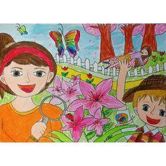 자동 대체 텍스트를 사용할 수 없습니다. Art Lessons For Kids, Art For Kids, Crafts For Kids, Save Water Poster Drawing, Owl Crafts, Kindergarten Art, Online Painting, Watercolor Techniques, Easy Drawings