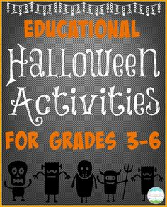 Educational Halloween Activities for the BIG KIDS! Finally a collection of activities that the older kids will love, too!