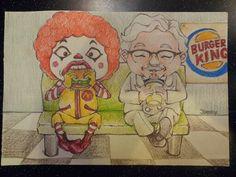 맥도날드와 kfc할아버지 버거킹에서