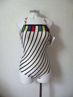 Unworn 80s swim Suit S M by dandylioness on Etsy, $28.00