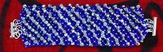 #Band bracelet crystal blue#Crystal#Rocailles Miyuki#