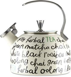 kate spade Tea Kettle- fun style for my kitchen decor and tea #kitchendecor #affiliate #teakettle