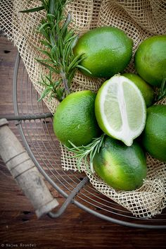 ♂ Still life, food styling, healthy eating Green Limes by Delicious Shots