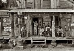General store in Gordonton, North Carolina. Photographed by Dorothea Lange in July, 1939