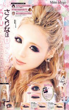 J-fashion gyaru Hairstyle and make-up