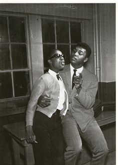 13 years old Stevie Wonder and Muhammad Ali ~ 1963