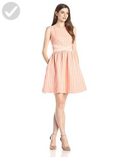 ERIN erin fetherston Women's Edie Daisy Jacquard Flare Dress, Melon, 6 - All about women (*Amazon Partner-Link)