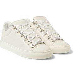 Balenciaga - Arena Creased Leather Low-Top Sneakers | MR PORTER