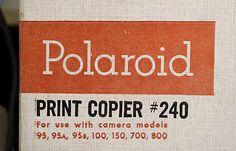 vintage Polaroid package / type