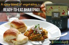 Ready to eat Bhaji (pao) available at www.satvikshop.com