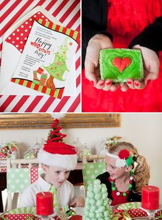 Whimsical Grinch Inspired Holiday Party for your little Whos! #Christmas #party #kids