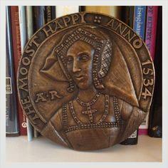 A reconstruction of Anne Boleyn's portrait medal by Lucy Churchill.