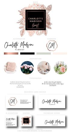 Find tips and tricks, amazing ideas for Fashion logo design. Discover and try out new things about Fashion logo design site Logo Floral, Flower Logo, Floral Design, Web Design, Design Blog, Corporate Design, Corporate Branding, Inspiration Logo Design, Style Inspiration