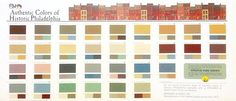 F&H Paint   Authentic Colors of Historic Philadelphia [once had linked to http://fhpaint.com/architectural/docs/historic_phila.html but now appears to be broken]