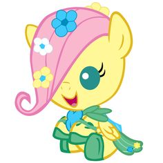 baby Fluttershy with her gala dress.