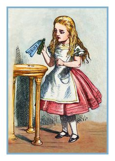 Alice from .. Alice in Wonderland Counted Cross Stitch Chart / Pattern....FREE Shipping