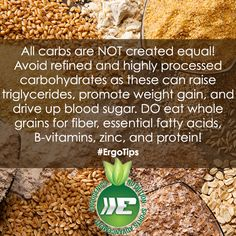 Are you getting enough whole grains? Essential Fatty Acids, Healthy Living Tips, Weight Gain, Health Tips, Healthy Lifestyle, Vitamins, Grains, Eat, Healthy Living