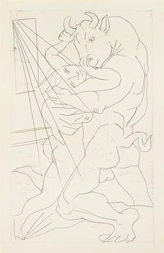 Picasso, Minotaure embrassant une Femme