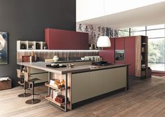 marina line di febal casa la cucina che si integra perfettamente con il living