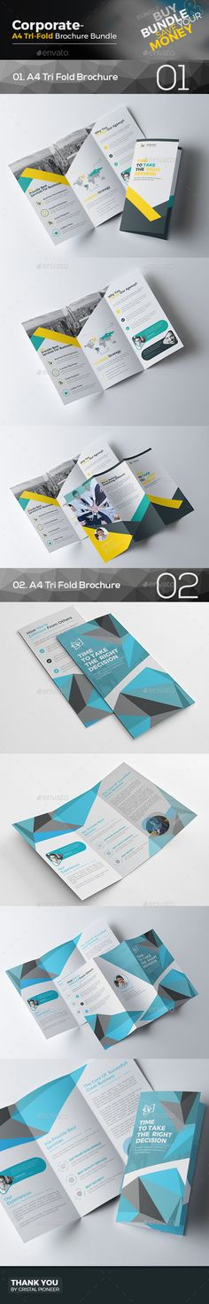 2 Tri Fold Brochure Templates Vector EPS, AI Illustrator. Download here: https://graphicriver.net/item/tri-fold-brochure-bundle-2-in-1/17255266?ref=ksioks