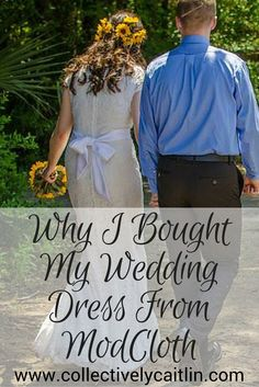 Why I Bought My Wedding Dress From ModCloth - Collectively Caitlin