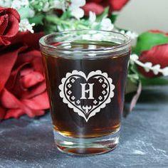 Personalized Heart Shot Glass