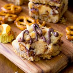 Pretzel Crusted #PeanutButter Cup #Cheesecake Bars - hands down, one of the best #desserts I've ever made!