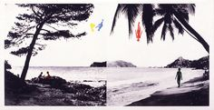 "John Baldessari ""Paradise"" 1989-90. Photogravure with color aquatint. Baldessari works with appropriated photographic images and texts, studying their relationships through his prints, photography and ""story art.""  Since the early 1960's, Baldessari has been one of California's most influential artists, a father of Conceptual Art and a teacher to other artists.  He has taught at many institutions, most notably at California Institute of the Arts in Valencia."