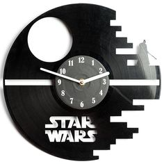 Star Wars Vinyl Wall Clock Cutout - Great Room Decor - Eco-friendly - Unique present for friends and family by secondlifeforvinyl *** Click image to review more details. (This is an affiliate link) #DecorativeAccessories