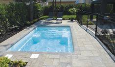 San Juan Pools sale and installation Backyard Plan, Backyard Pool Landscaping, Small Backyard Pools, Small Pools, Swimming Pools Backyard, Pool Spa, Pool Decks, San Juan Pools, Arquitetura