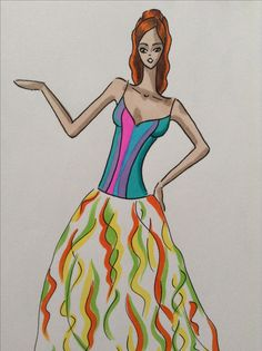 Colorful dress by Kelsey Lovelle