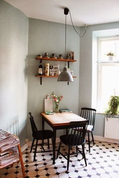 Decoration Ideas 80 Incredible Small Dining Room Design and Decor Ideas Dining rooms comprise in all Dining Room Table Decor, Dining Room Design, Dining Room Furniture, Wood Table, Furniture Ideas, Dining Nook, Kitchen Tables, Kitchen Dining, Tiny Dining Rooms