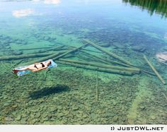 Water literally as clear as glass.