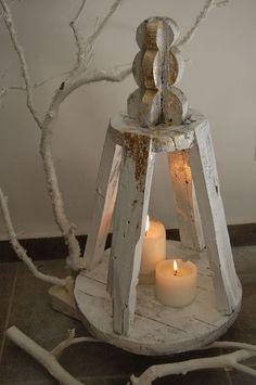 lanterna in legno da recupero
