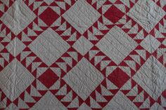Diamonds in Wild Goose Chase Sashing | From a unique collection of antique and modern quilts at https://www.1stdibs.com/furniture/folk-art/quilts/