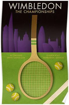 Wimbledon tennis poster Canvas Print by kinographics - MEDIUM Wimbledon London, Wimbledon Tennis, Tennis Lessons, Tennis Tips, Tennis Shirts, Tennis Clothes, Tennis Clubs, Tennis Racket, Tennis Posters