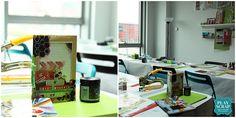 taller scrapbooking madrid-playscrap0 Madrid, Vanity, Scrapbooking, Desk, Mirror, Home Decor, Small Moments, Dressing Tables, Powder Room