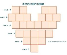 Photo Heart Collage, Heart Collage Of Pictures, Pic Collage Ideas, Heart Picture Collage, Heart Shaped Collage, Heart Pictures, Picture Wall, Polaroid Pictures Display, Polaroid Collage