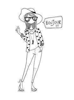 BonJour #clemz #illustration